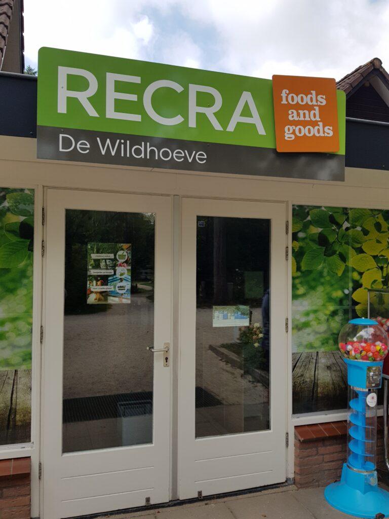 supermarkt op camping de Wildhoeve, Emst