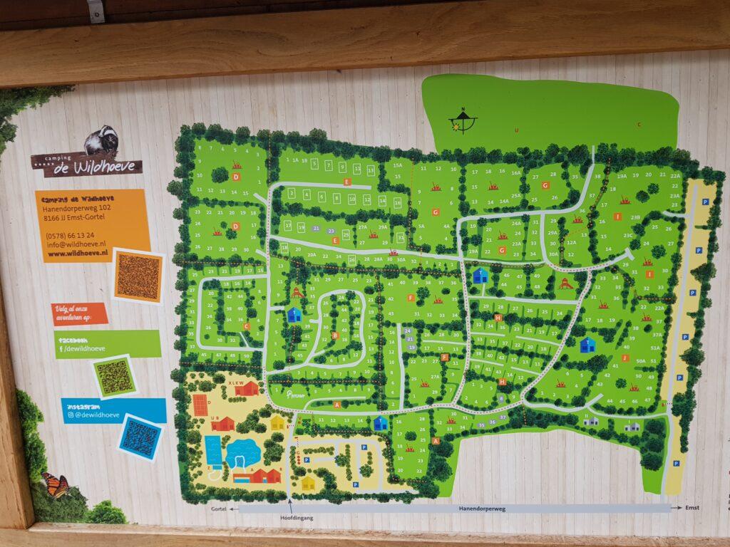 plattegrond camping de Wildhoeve, Emst
