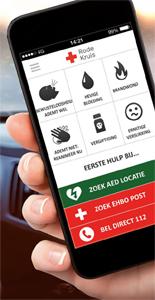 EHBO, Rode Kruis app:  EHBO-tips bij noodgevallen