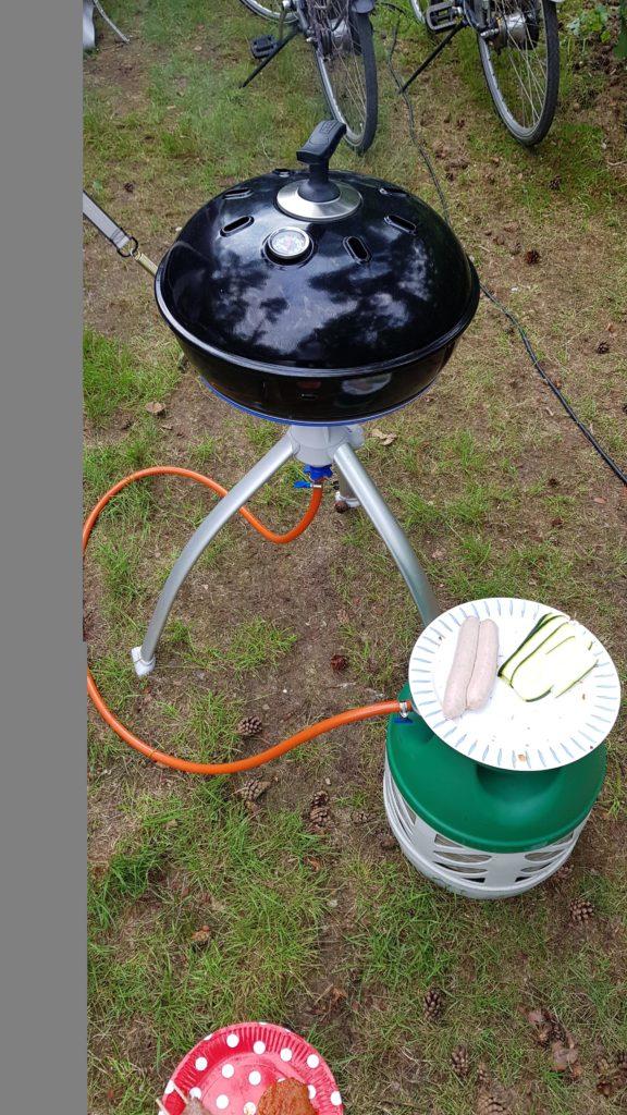 BBQ-en op de camping