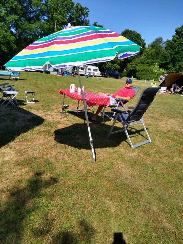 relaxen op de camping