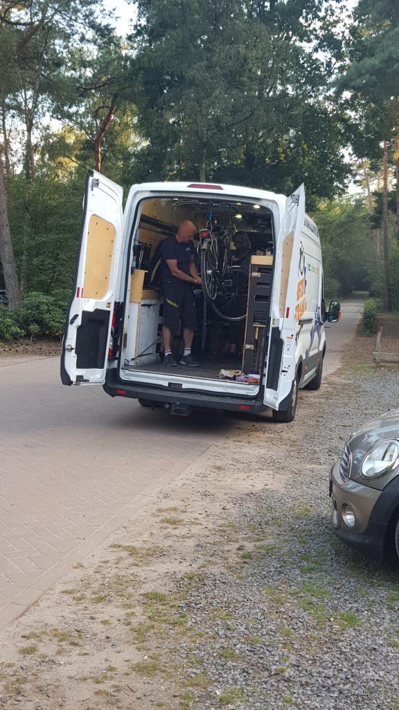 Mobiele fietsbus van fietscentraal.nl uit Garderen
